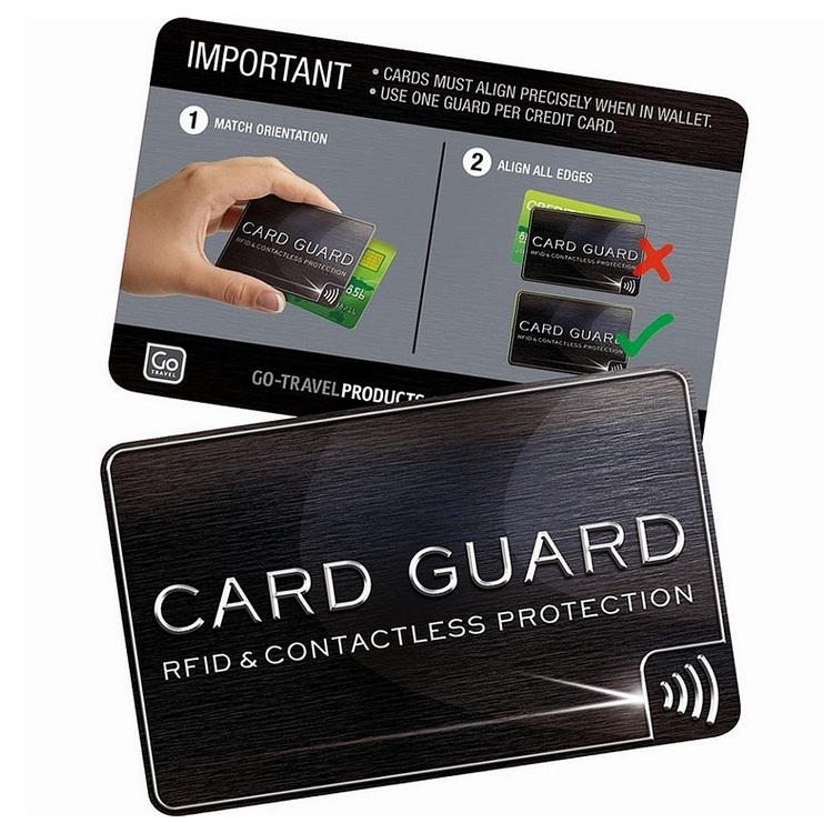 Go Travel RFID Card Guard Charcoal