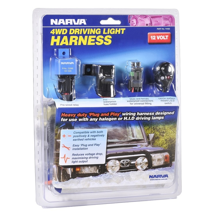 Narva 4WD Plug & Play Driving Light Wiring Harness