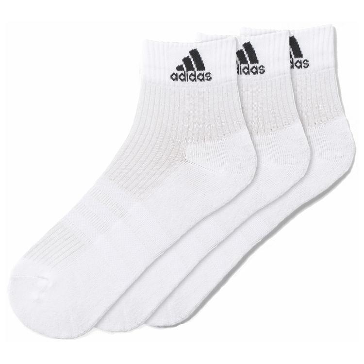 adidas Adults' 3 Stripe Performance Half Cushioned Ankle Socks 3 Pack