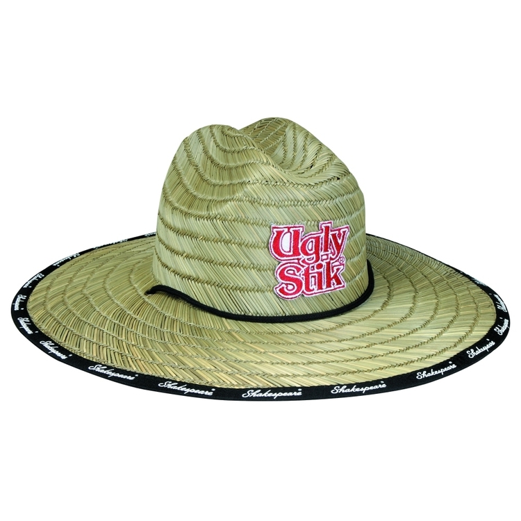 Ugly Stik Wide Brim Straw Hat One Size Fits Most