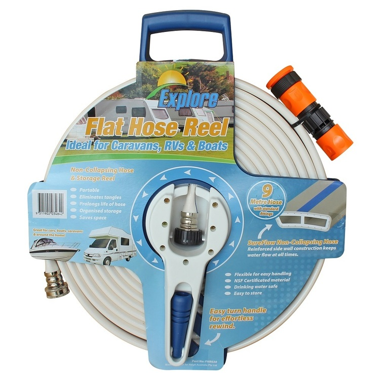 Explore 9M Flat Water Hose with Reel