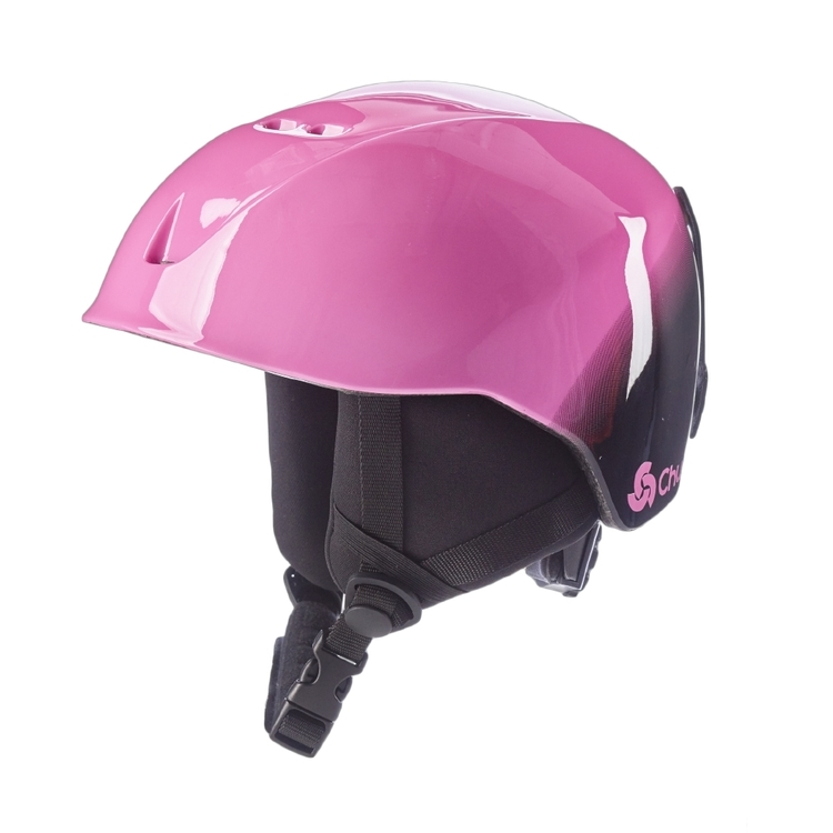 Chute Kid's Flake Snow Helmet Pink & Black