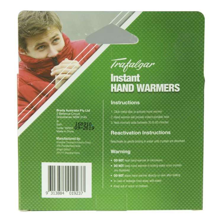 Trafalgar Instant Hand Warmers 4 Pack Red Small