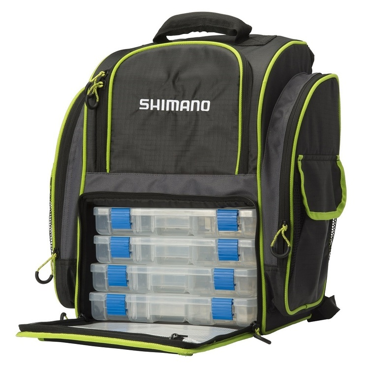 Shimano Backpack & Tackle Box Set Black