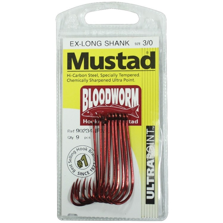 Mustad 90234NPNR Bloodworm Hooks Pack