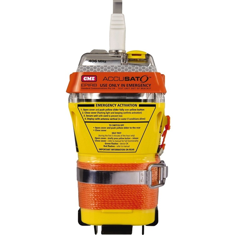 GME MT600 406MHz EPIRB Manual Activation Yellow