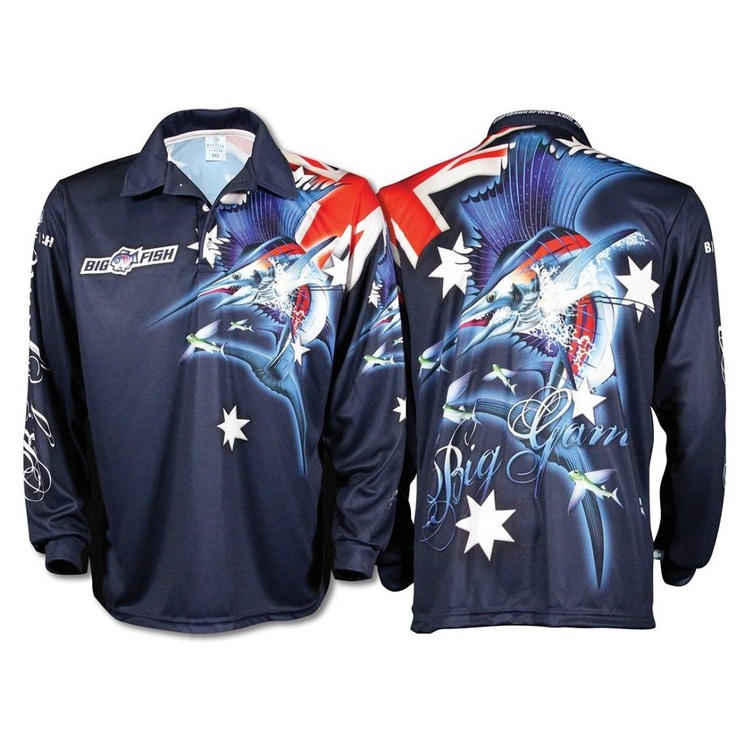 Bigfish Aussie Pride Sublimated Polo Shirt