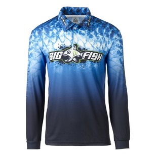 Bigfish Blue Scales Sublimated Polo Shirt
