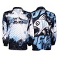Bigfish Fishious Sublimated Polo Shirt White, Blue & Black