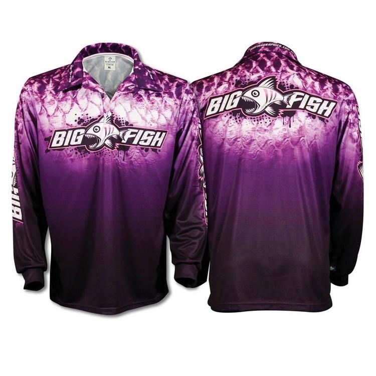 Bigfish Purple Scales Kids' Sublimated Polo Shirt