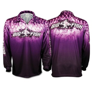 Bigfish Purple Scales Kids' Sublimated Polo Shirt