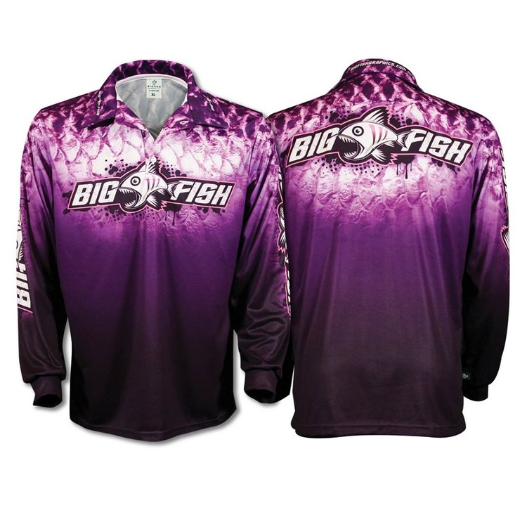 Bigfish Purple Scales Adults' Sublimated Polo Shirt Purple