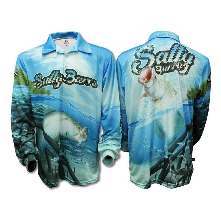 Bigfish Salty Barra Sublimated Polo Shirt