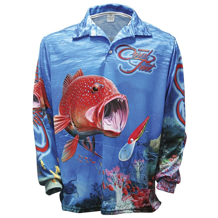 Bigfish Coral Trout Sublimated Polo Shirt Multicoloured