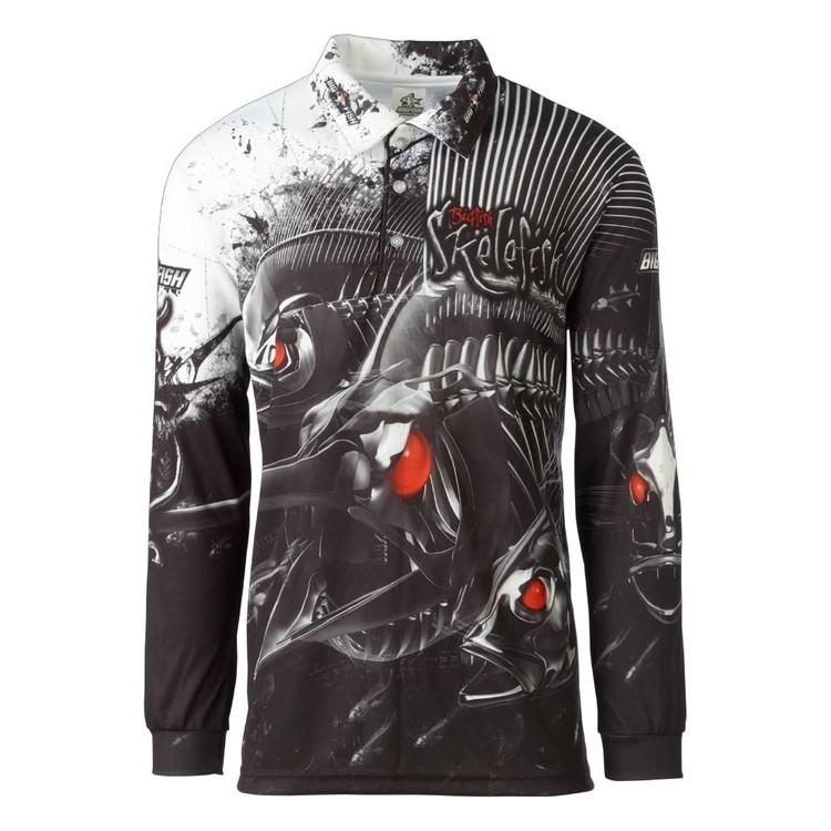 Bigfish Skelefish Sublimated Polo Shirt