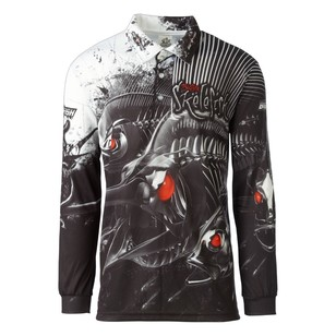 Bigfish Skelefish Sublimated Polo Shirt