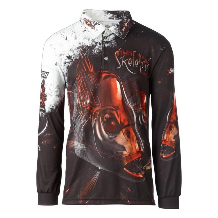 Bigfish Skele Snapper Sublimated Polo Shirt