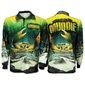 Bigfish Muddie Kids Sublimated Polo Shirt Green & Yellow