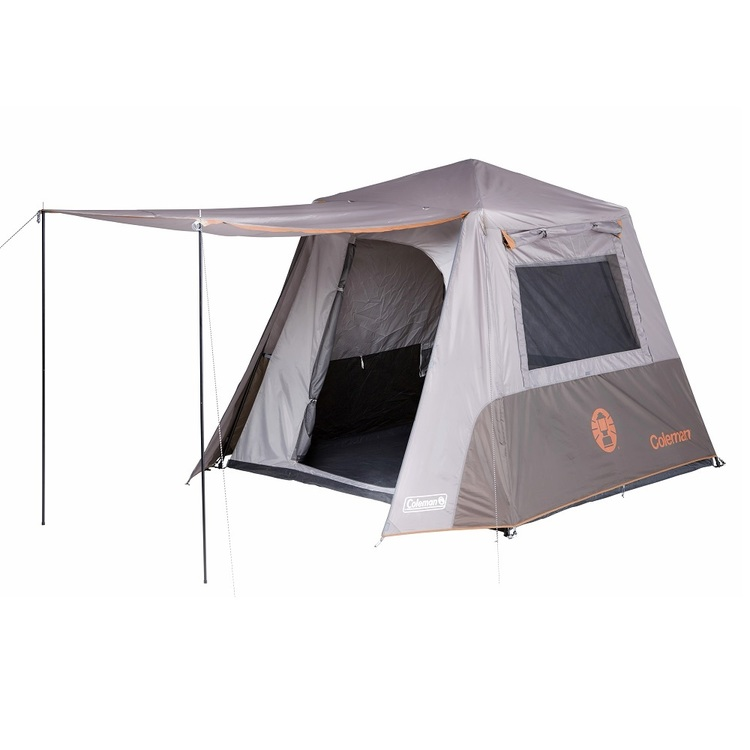 Coleman Instant Up 4 Person Tent Silver & Rust