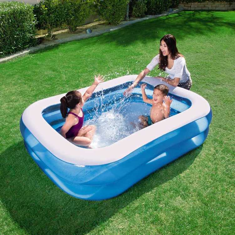 Bestway Inflatable Rectangular Family Pool Blue