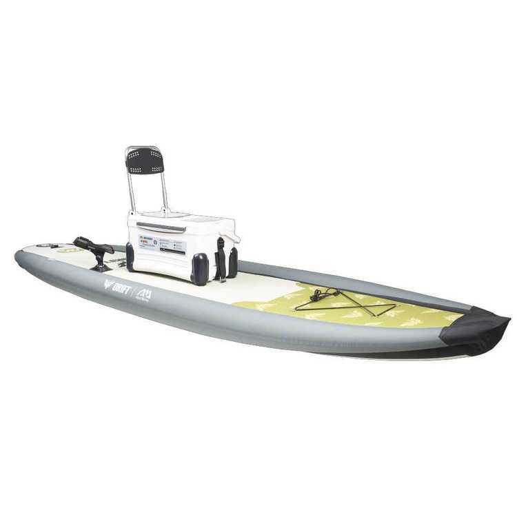 Aqua Marina Drift Fishing Inflatable Stand Up Paddle Board White 10 ft 10 in