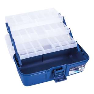 Jarvis Walker 3-Tray Clear-Top Tackle Box
