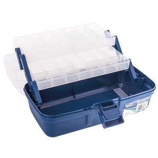 Jarvis Walker 2-Tray Clear-Top Tackle Box