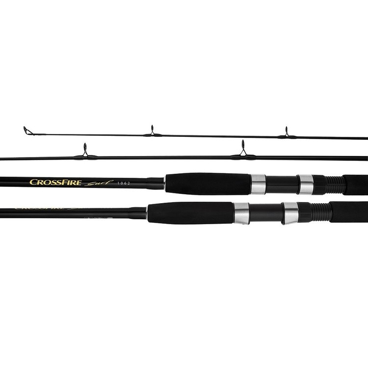 Daiwa Crossfire Surf CFS1202L Spinning Rod Black 12 ft