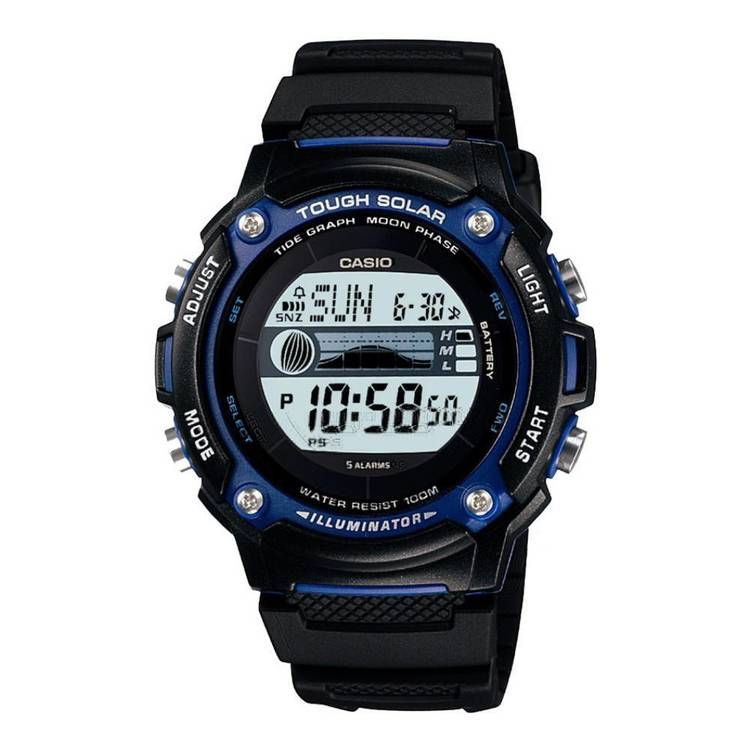 Casio Solar Tide Watch Black One Size Fits Most