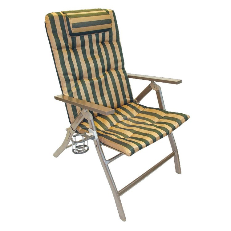 Coleman 5 Position Padded Chair With Glassp Cup Holder
