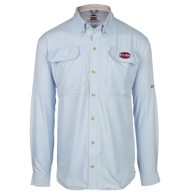 Penn Blue Vented Fishing Shirt