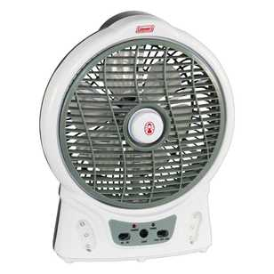 Coleman 8 Inch Rechargeable Fan With LED Light