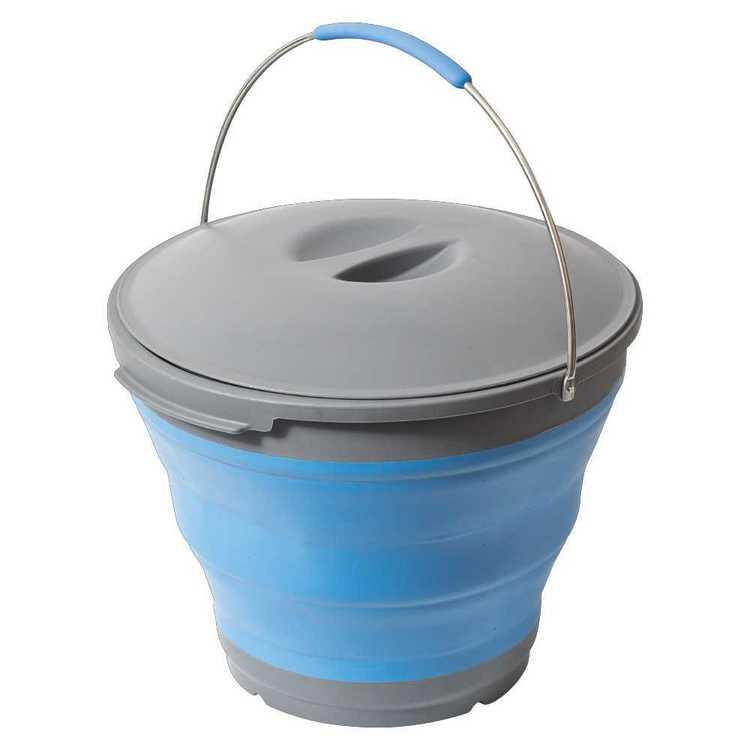 Companion Popup 9.5 Litre Bucket & Lid Blue