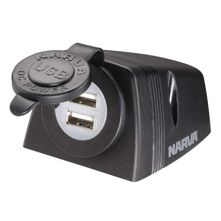 Narva Surface Mount Dual Usb Socket