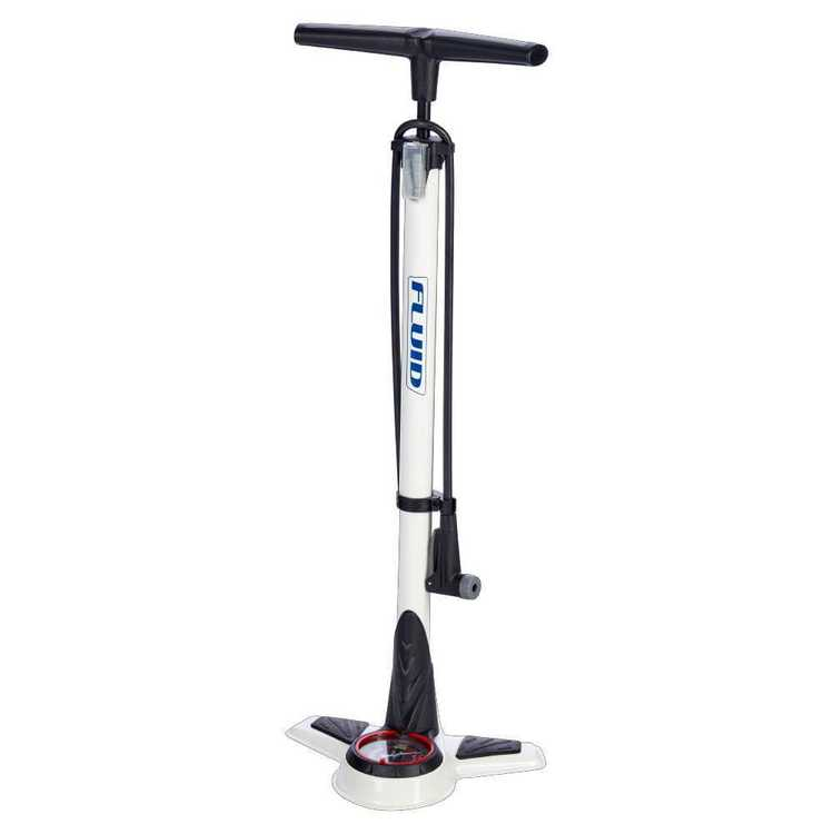 Fluid Revo Floor Pump, White White