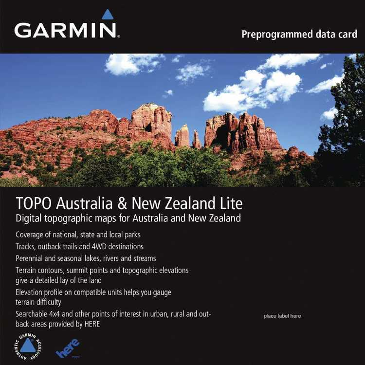 Garmin TOPO Australia & New Zealand Lite MicroSD Card