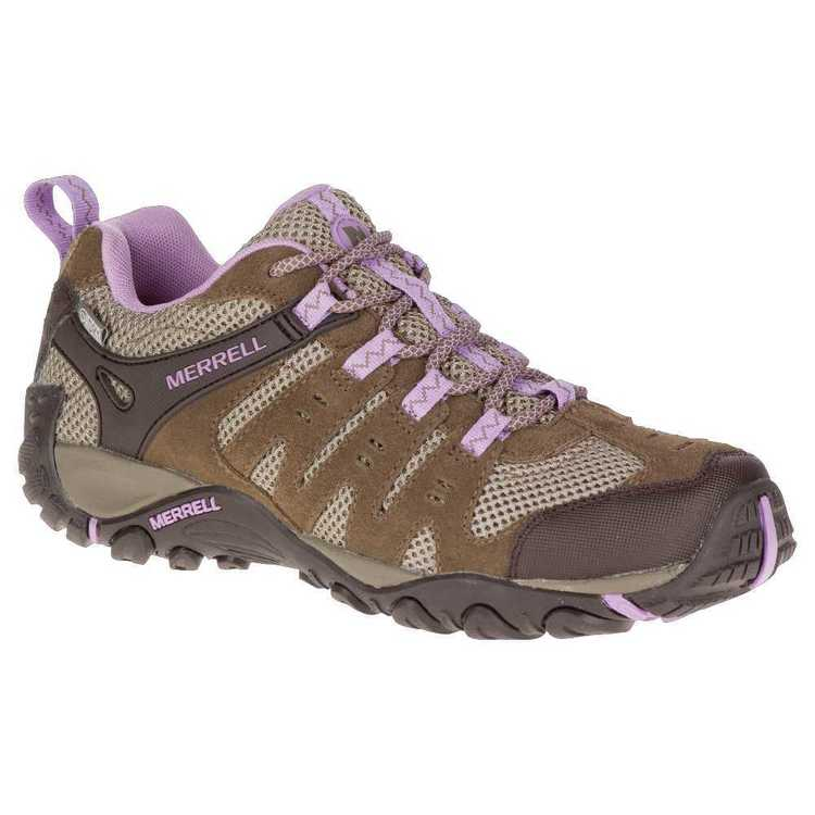 Merrell Women's Accent Waterproof Low Hiking Shoes Stone & Orchid