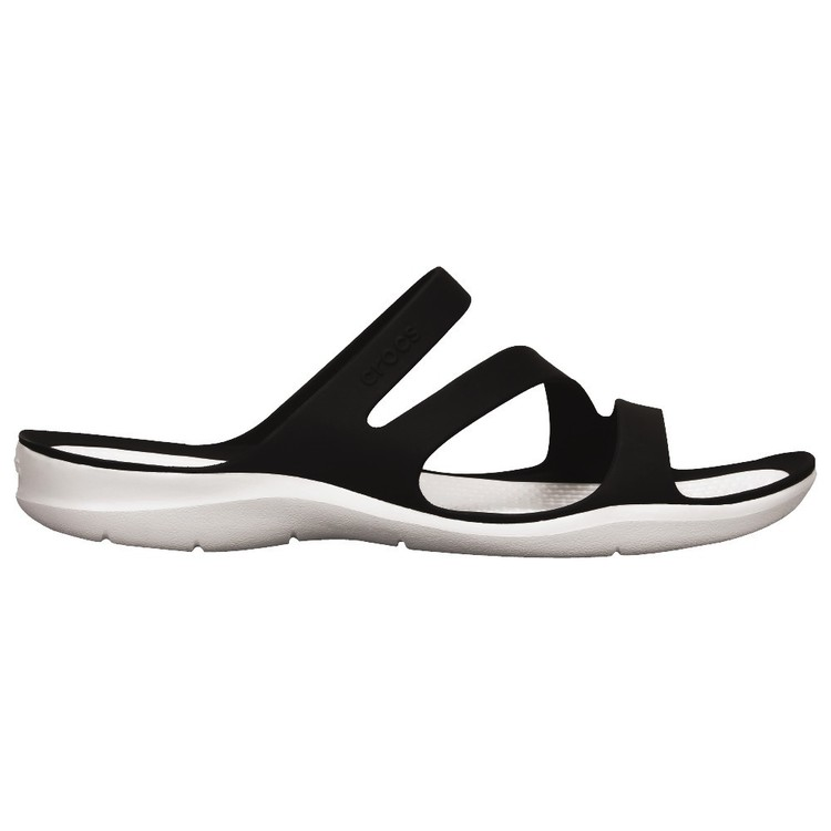 Crocs Women's Swiftwater Sandals Black & White