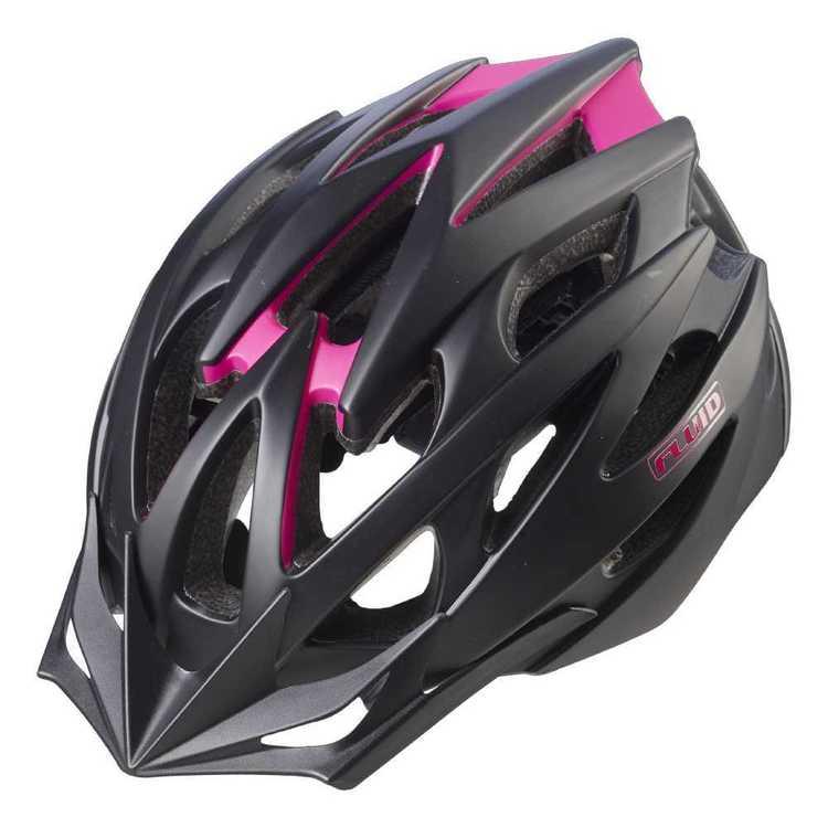 Fluid Adult's Rapid Vivid Black Bike Helmet
