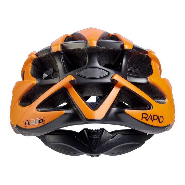 Fluid Adult's Rapid Burnt Orange Bike Helmet Burnt Orange