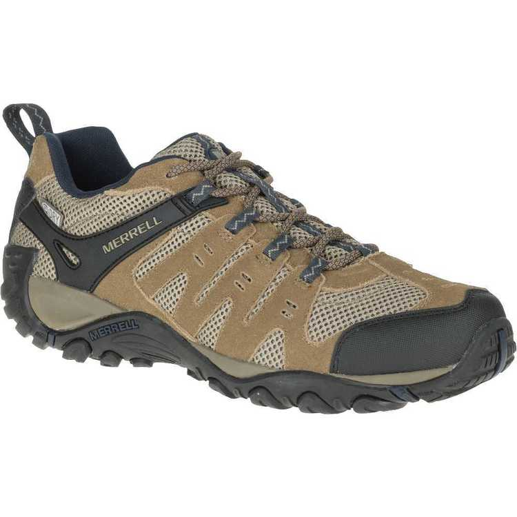 Merrell Men's Accent WP Low Hiking Shoes Otter & Ebony 10