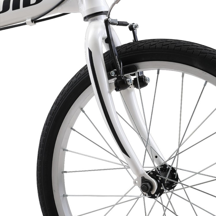 Fluid Traveller II Alloy Folding Bike Piano White