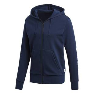adidas Men's Essentials Linear Full Zip Hoodie