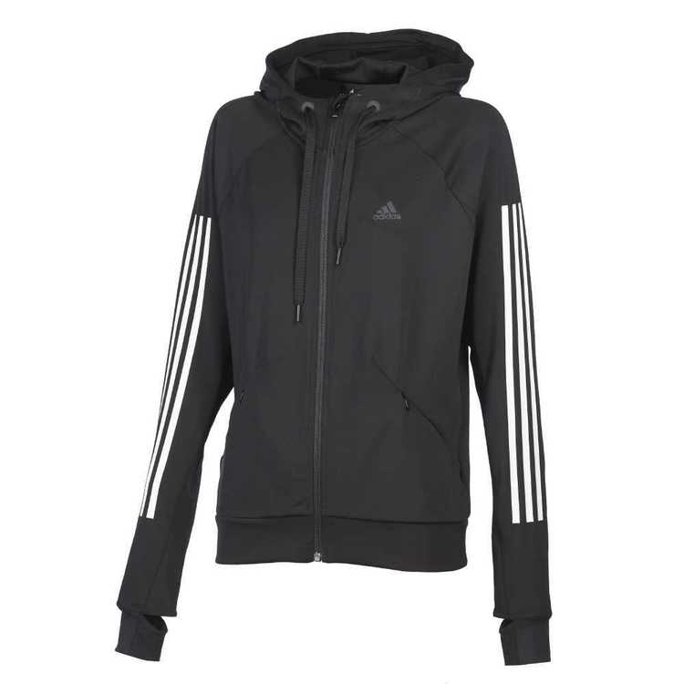 adidas Women's Performance Full Zip Hoody Black