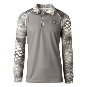 Bigfish Ghost Grey Repel Sublimated Polo Shirt