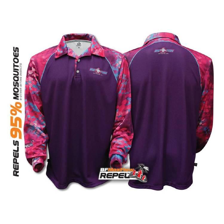 Bigfish Diva Purple Repel Sublimated Polo Shirt