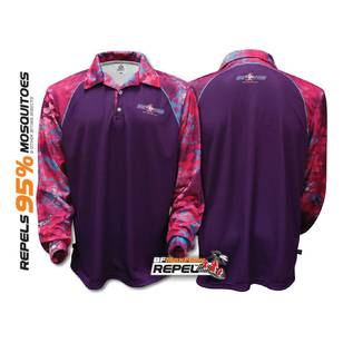 Bigfish Diva Purple Repel Sublimated Polo Shirt