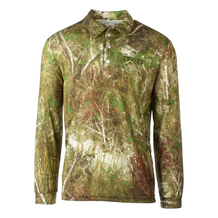 Bigfish Bush Camo Repel Sublimated Polo Shirt Camo