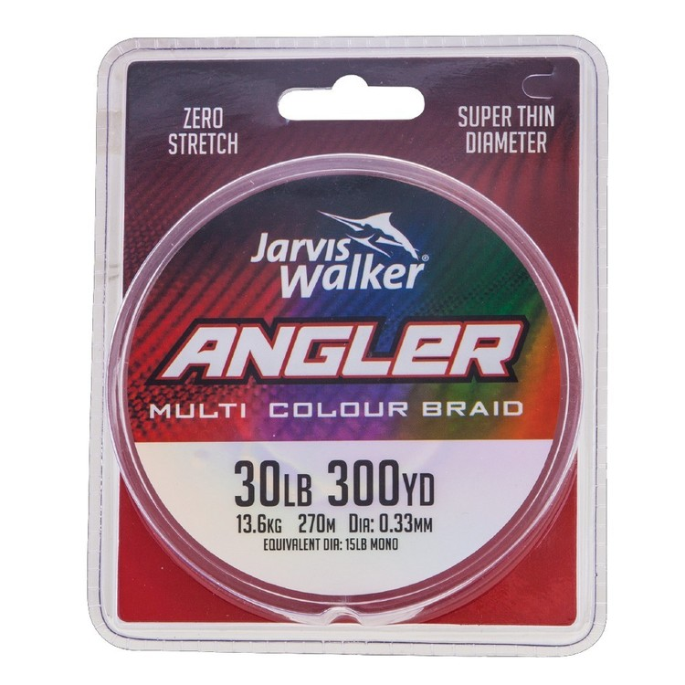 Jarvis Walker Multicolour 300YDS Angler Multicoloured