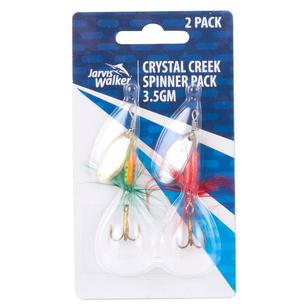 Jarvis Walker Crystal Creek Spinner Lures 2 Pack